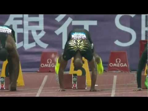 Asafa Powell 10.02 Shanghai Diamond League Men 100m 2012 (English)