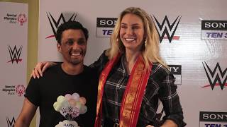 CHARLOTTE FLAIR  CELEBRATE CHILDRENS DAY WITH WWE SUPERSTAR