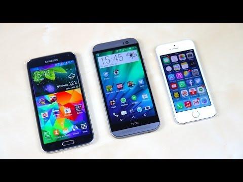 Samsung Galaxy S5 vs HTC One (M8) vs Apple iPhone 5s: Benchmark | SwagTab