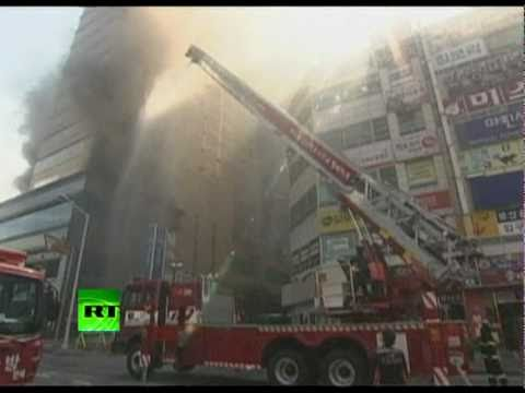 Burning Giant: Video of high-rise on fire in South Korea