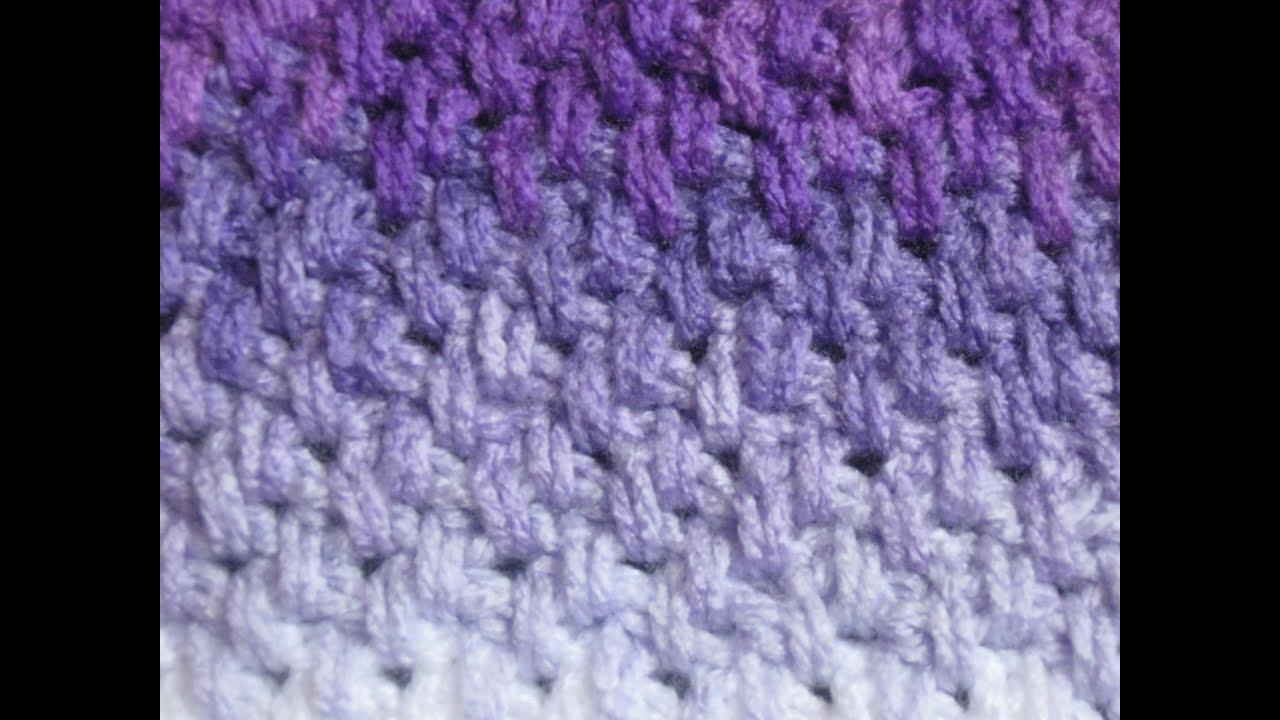 Different Crochet Stitches Youtube : Crochet Stitches - Meladoras Thick Mesh / Brick Stitch Tutorial ...