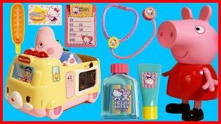 佩佩豬粉紅豬小妹喬治豬的救護車玩具故事