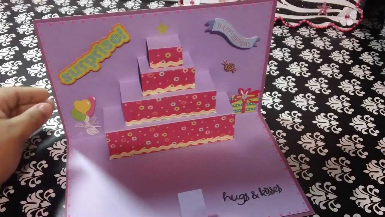 Tarjeta de cumplea os pastel pop up original youtube - Ideas para preparar un cumpleanos ...