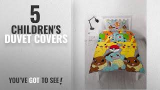 Top 10 Children'S Duvet Covers [2018]: Pokemon 'Catch' Single Duvet Set - Repeat Pattern Design