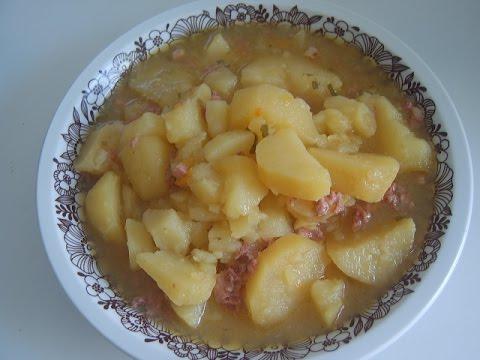 Как потушить картошку с тушенкой - видео