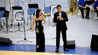 Sara Niemietz and Landon Shaw singing The Prayer