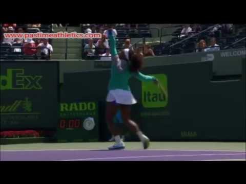 Serena Williams Slow Motion Tennis Serve Swing - WTA Wimbledon Tips Drills venus