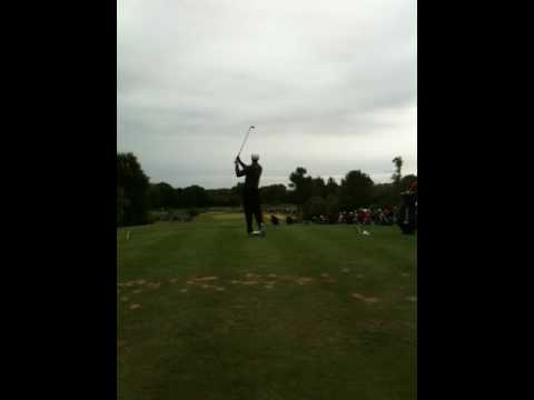 Tiger Woods on Par 3 6th hole round two of JP McManus Pro A