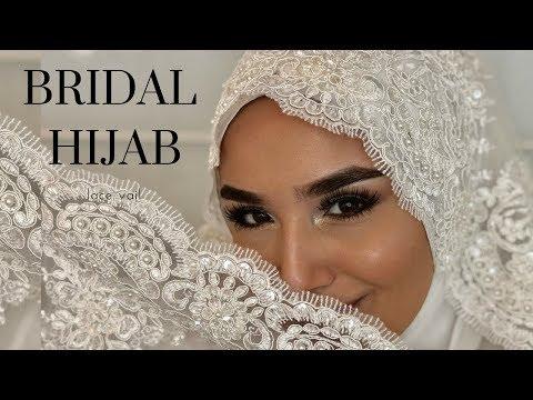 Bridal Hijab With Veil I Gelinbasi I Hochzeitsfrisur - YouTube