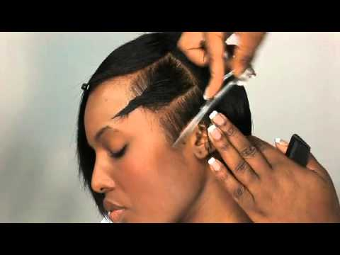 Afro haircut   short asymmetrical shape on weave   preview from myhairdressers