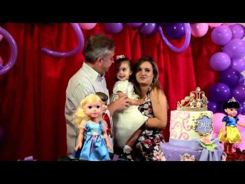 Clip Aniversario 2 anos Sofia - Tema Princesa Sofia *musica Livre estou - Frozen