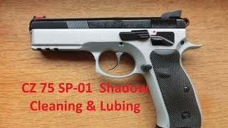 CZ 75 SP-01 Shadow - Cleaning & Lubing & first IPSC shots