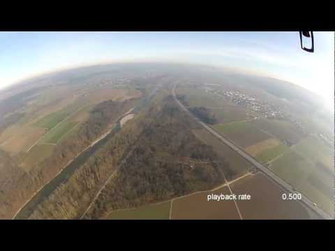 Go Pro and Parrot AR.Drone fly away very high