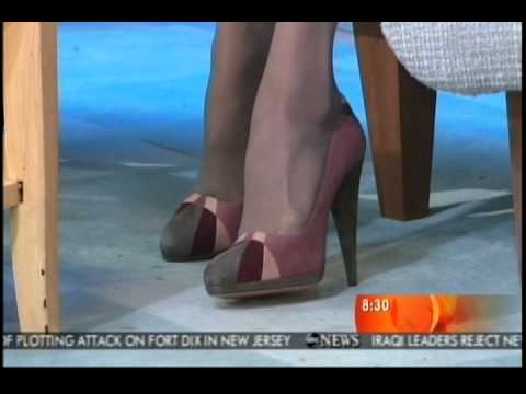 Diane Sawyer Showing Off Her Sexy High Heels