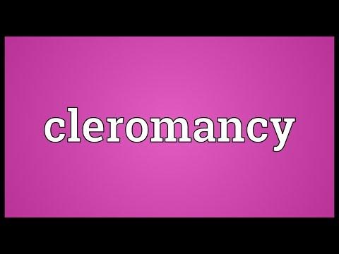 Header of cleromancy