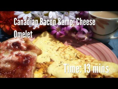 Canadian Bacon & Cheese Omelet Recipe