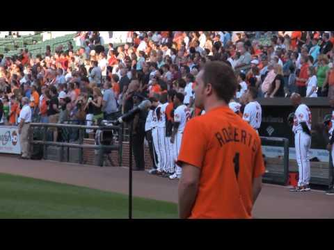 Matt Wolfe - National Anthem @ Baltimore Orioles vs. Detroit Tigers