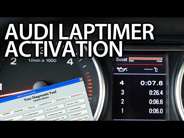 How to activate Audi laptimer, oil temp,. boost gauge (A3 ...