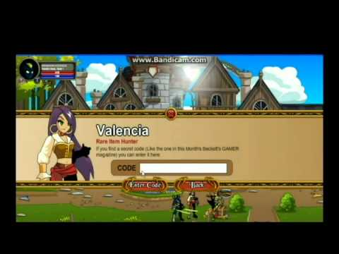 AQW How to get Chainfire Blade [Valencia's Special Code Shop]