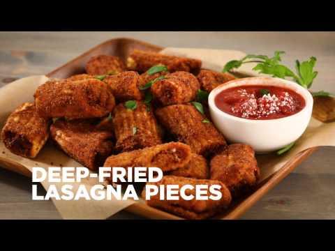 Appetizer Recipes - How to Make Deep Fried Lasagna Pieces