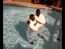 Reggie Hampton Gets Baptized