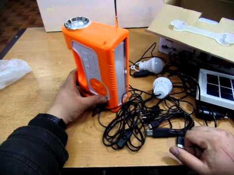 мини солнечная  электро станция  фонарь плеер радио