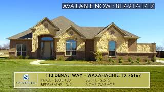 Sandlin Homes - 113 Denali Way Waxahachie, TX 76244