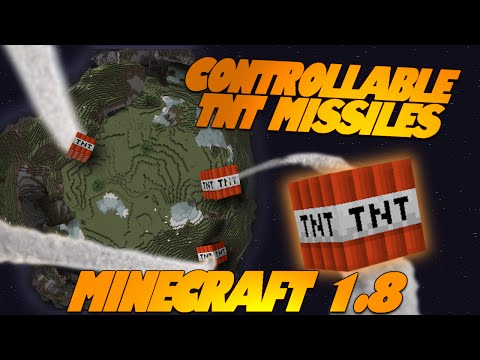 "Minecraft Redstone ""MISSILES"" Controllable Minecraft TNT Missiles! (Minecraft Redstone Creations)"