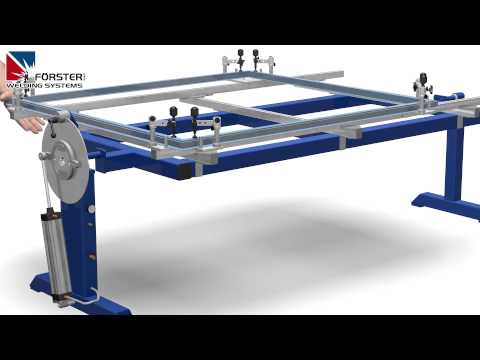 frame welding fixture - (weld jig / welding table) - 4300 (english)