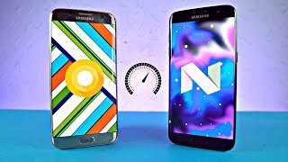 Samsung Galaxy S7 Edge - Android 8.0 Oreo vs 7.0 Nougat - Speed Test!