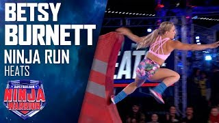 Betsy Burnett crashes out of the competition | Australian Ninja Warrior 2019