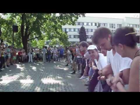 Русские пробежки Донецк Стенка на стенку