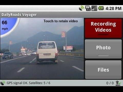 Видеорегистратор на Андроид смартфоне (DailyRoads Voyager)