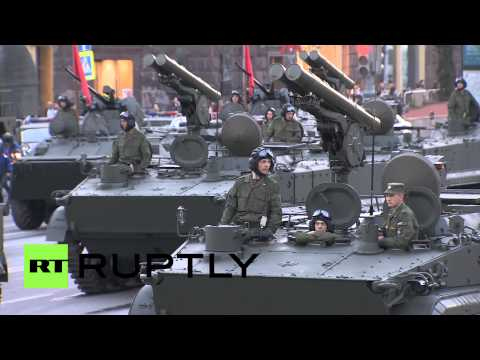Russia: ICBMs, T-90s rolled out for Victory Day rehearsal