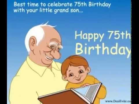 75th Birthday e-card - YouTube