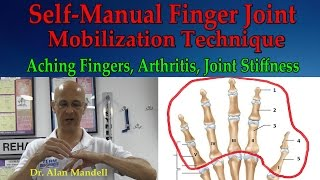 Self-Manual Finger Joint Mobilization Technique (Arthritis, Joint Stiffness & Aching) - Dr Mandell