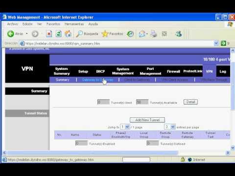 Simple configuración VPN en Linksys RV042