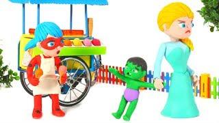 SUPERHERO BABIES CAN HAVE DESSERT AFTER DINNER ❤ Superhero Babies Play Doh Cartoons For Kids