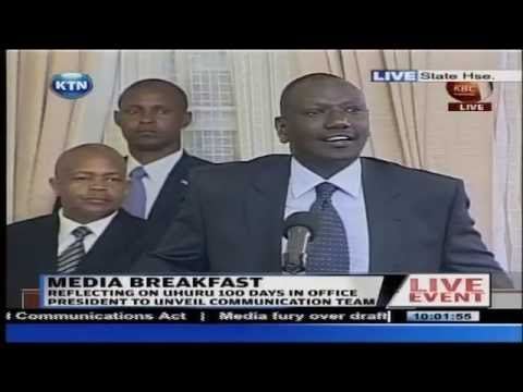 Ruto's light moments at the Media Breakfast