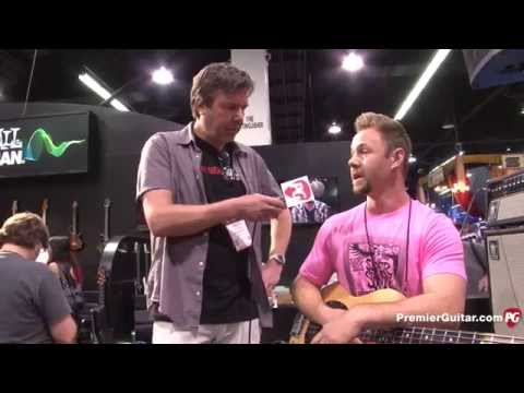 Namm '15 - Music Man Stingray Neck Through Bass & Slinky Flatwound Cobalt Bass Strings Demos video