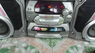 Dàn Panasonic ak67 -5CD - 4 loa bass 320w cực mạnh - zalo : 01666.543.886