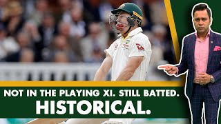 NOT in the PLAYING XI. Still BATTED. HISTORICAL.   #AakashVani