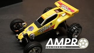 e64: Tamiya Hornet Look alike mini RC Racing Car!