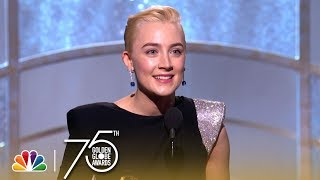 Saoirse Ronan Wins Best Actress in a Comedy at the 2018 Golden Globes