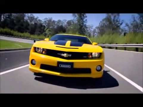 Yellow Chevy Camaro Ss With Black Stripes Youtube