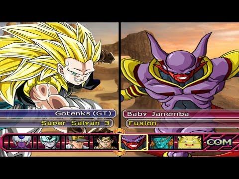 Dragon Ball Z Budokai Tenkaichi 3 - Gotenks (GT) SSJ3 VS Baby Janemba Red Potara *Epic Battle (HD)