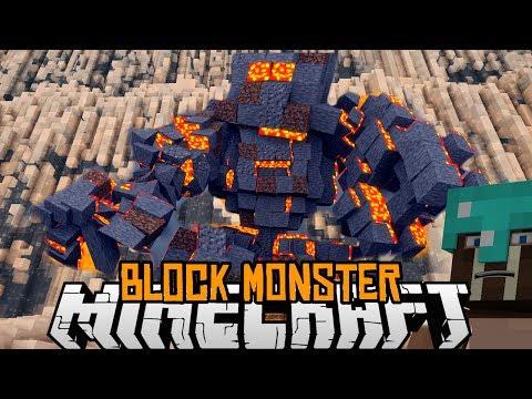 Minecraft mody 1.7.2 #94 BLOCK MONSTER MIAŻDŻ MOBY JEDZ DRZEWA NISZCZ ŚWIAT