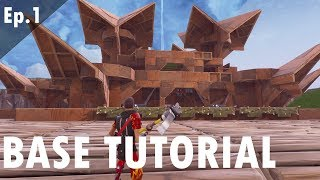 LETS BUILD A BASE | EP.1 - FORTNITE PvE SAVE THE WORLD STONEWOOD STORM SHIELD BASE TUTORIAL