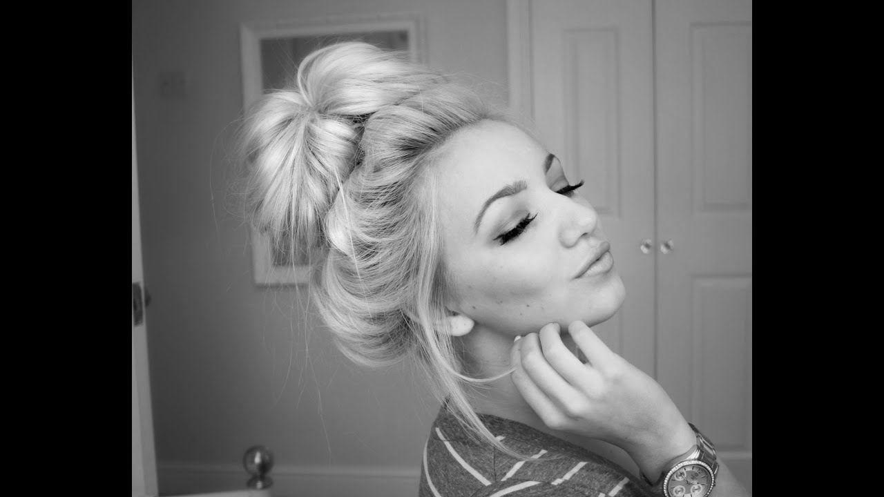 Perfect Easy Messy Bun Tutorial Without Sock Donut Youtube
