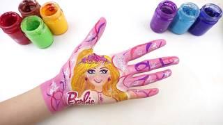 Hướng Dẫn Vẽ Búp Bê Barbie l Dạy Vẽ Nhân Vật Hoạt Hình l Dạy Bé Học Màu Sắc Tiếng Anh